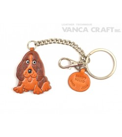 Basset Hound Leather Ring Charm #26055