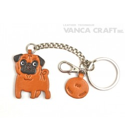 Pug Leather Ring Charm #26069