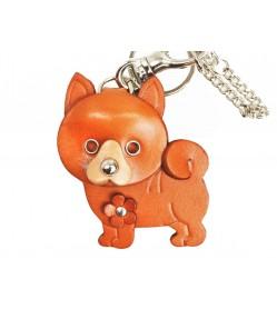 Shiba Leather Dog/Bag Charm