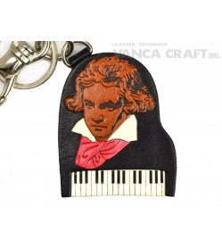 Beethoven Handmade Leather Goods/Bag Charm