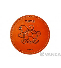 Leather Coaster Turtle
