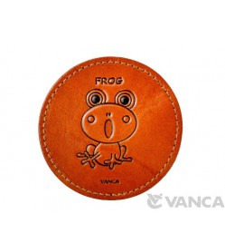Leather Coaster Frog