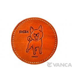 Leather Coaster Shiba