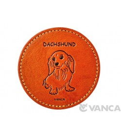 Leather Coaster Dachshund Longhair