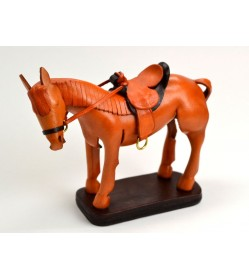 Leather Ornament Horse:Brown