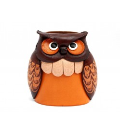 Owl Handmade Genuine Leather Eyeglasses Holder/Stand #26209