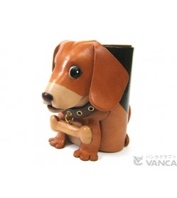 Beagle Handmade Leather Dog Eyeglasses Holder/Stand #26201