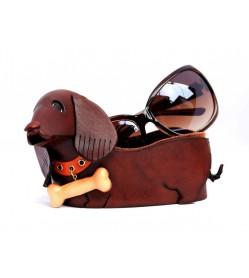 Dachshund Handmade Leather Eyeglasses Holder/Stand #26204