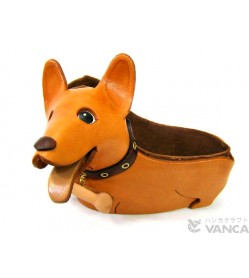 Corgi Handmade Leather Dog Eyeglasses Holder/Stand #26215