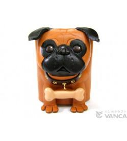 Pug Handmade Leather Dog Eyeglasses Holder/Stand #26211