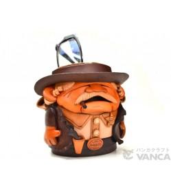 Sheriff Handmade Leather Eyeglasses Holder/Stand #26227