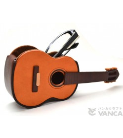 Guitar Handmade Leather Eyeglasses Holder/Stand #26218