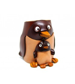 Penguin Handmade Leather Eyeglasses Holder/Stand #26217