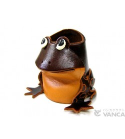 Frog Handmade Leather Animal Eyeglasses Holder/Stand #26216
