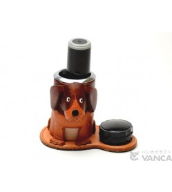 Beagle Japanese Leather Seal Stand #26288