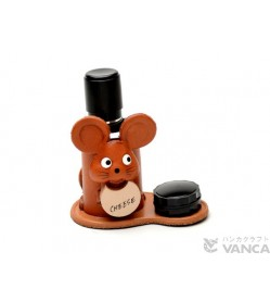 Mouse Japanese Leather Seal Stand #26295