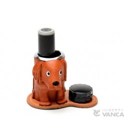Golden Retriever Leather Seal Stand #26292