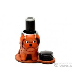 Shih Tzu Leather Seal Stand #26298