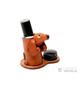 Dachshund Leather Seal Stand #26290