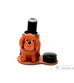 Toy Poodle Leather Seal Stand #26299