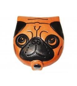 Pug Handmade Genuine Leather Animal Coin case/Purse #26276