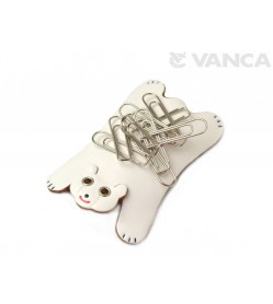 White Bear Leather Magnet Clip holder #26252