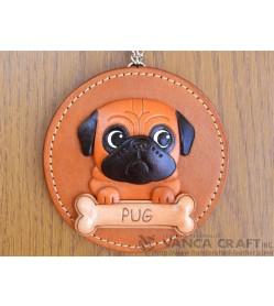 Pug Leather Wall Deco