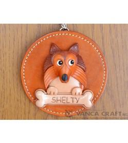 Shetland Sheepdog Leather Wall Deco