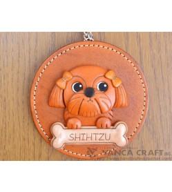 Shih Tzu Leather Wall Deco