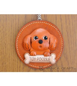 Toy poodle Leather Wall Deco