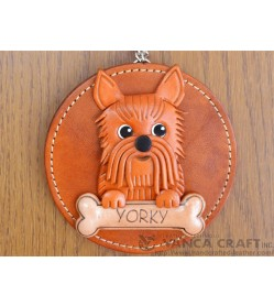 Yorkshire Terrier Leather Wall Deco