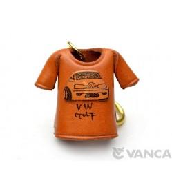 Volkswagen Golf T-shirt Leather Keychain
