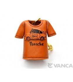 Porsche T-shirt Leather Keychain