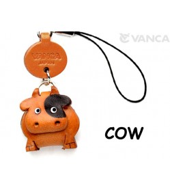 Cow Japanese Leather Cellularphone Charm Animal