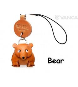 Bear Japanese Leather Cellularphone Charm Animal