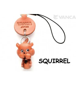 Squirrel Japanese Leather Cellularphone Charm Animal