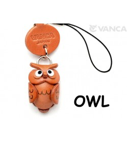 Owl Japanese Leather Cellularphone Charm Animal