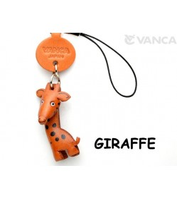 Giraffe Japanese Leather Cellularphone Charm Animal