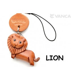 Lion Japanese Leather Cellularphone Charm Animal