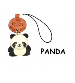 Panda Leather Cellularphone Charm Animal