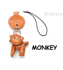 Monkey Japanese Leather Cellularphone Charm Animal