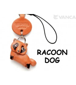 Raccoon dog Japanese Leather Cellularphone Charm Animal