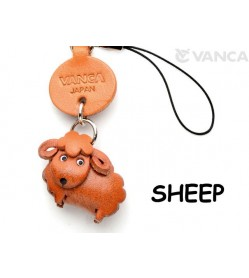 Sheep Japanese Leather Cellularphone Charm Animal