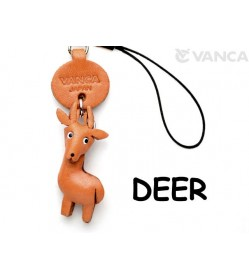 Deer Japanese Leather Cellularphone Charm Animal