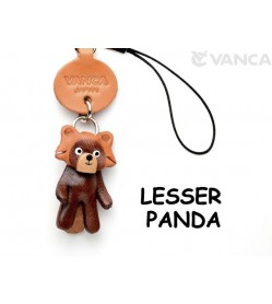 Lesser panda Japanese Leather Cellularphone Charm Animal