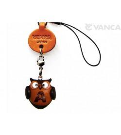 Owl A Leather Cellularphone Charm Alphabet