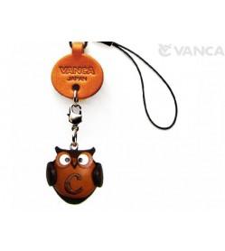 Owl C Leather Cellularphone Charm Alphabet