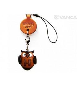 Owl H Leather Cellularphone Charm Alphabet