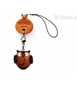 Owl J Leather Cellularphone Charm Alphabet
