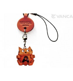 Cat A Leather Cellularphone Charm Alphabet